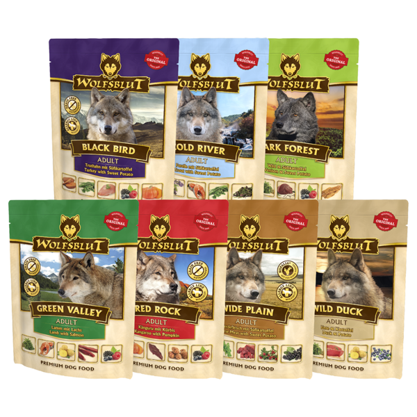 Wolfsblut Nassfutter Pouches 7x300g Multipack Mix